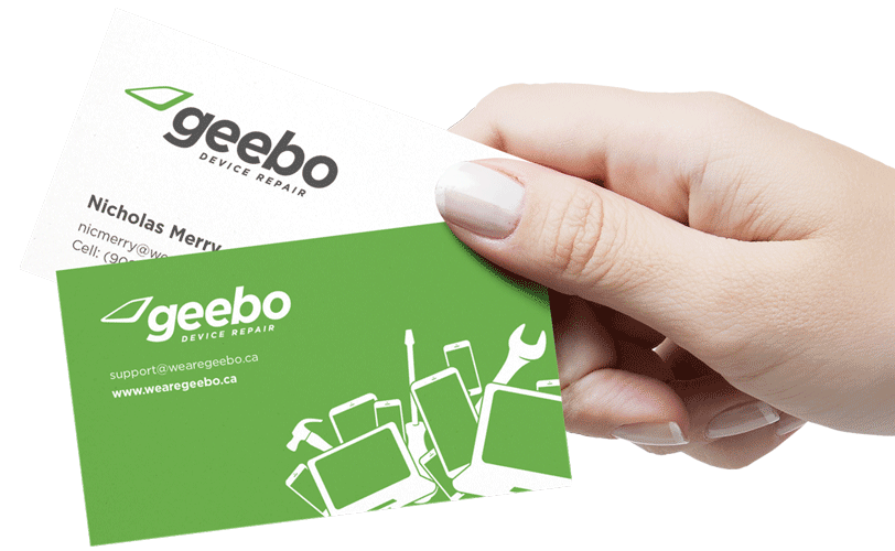 Geebo Device Repair Business Card