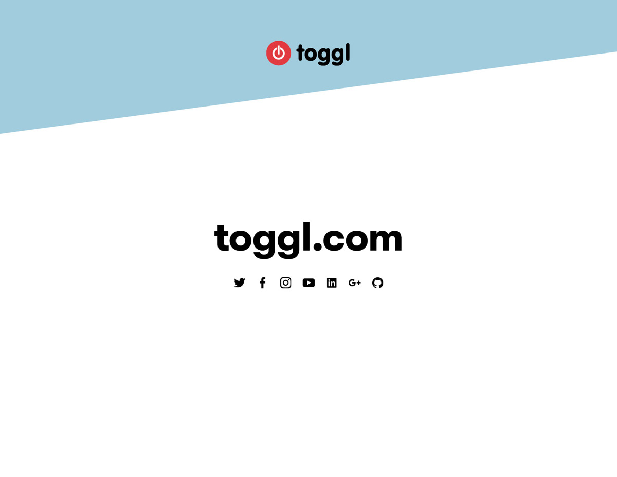 Toggl Quote template contact page