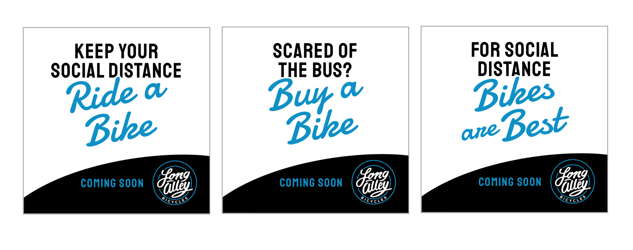 ad campaign - scared of the bus? Buy a bike.